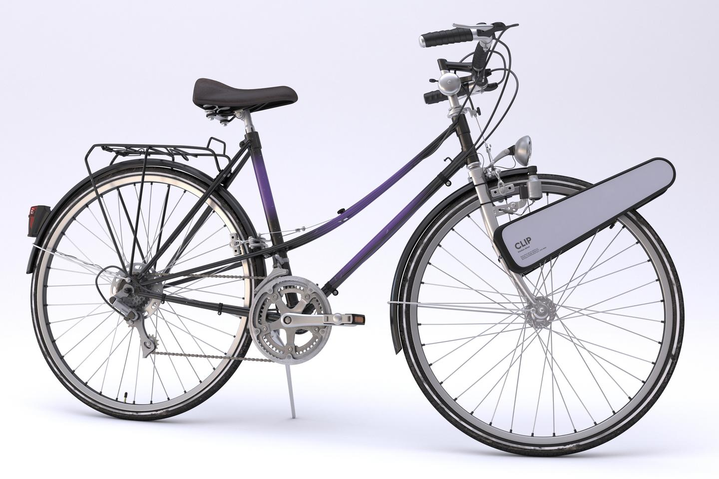 Clip is compatible with 26 to 28-inch front wheels