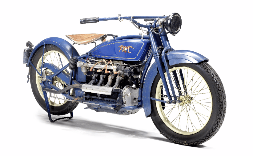 The Ace Four is a highly desirable motorcycle and examples rarely come to auction, the most recent example selling as part of the EJ Cole Collection for $126,500. This example is believed to have resided in the USA before being sold to the vendor in 2005. Little else is known about the Ace's history or condition. Sold strictly as viewed. Estimate: £18,000 - 24,000 ($26,000 - 35,000)Auction Page