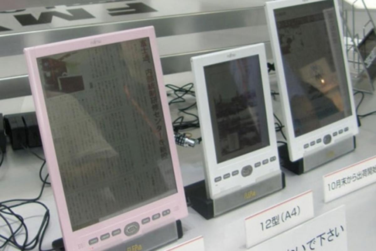 Fujistu's unveiled its FLEPia e-reader at CEATEC this year