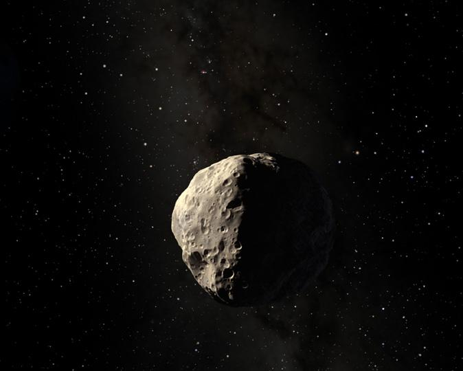 An artist's concept of the asteroid Apophis (Image ESA)