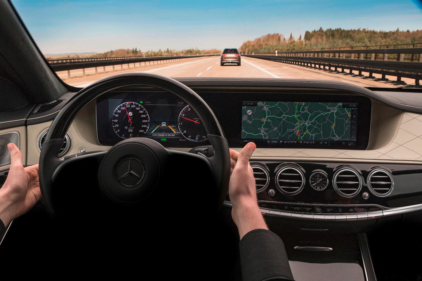 Hand-free motoring takes another step forward in the upcoming Mercedes S-Class