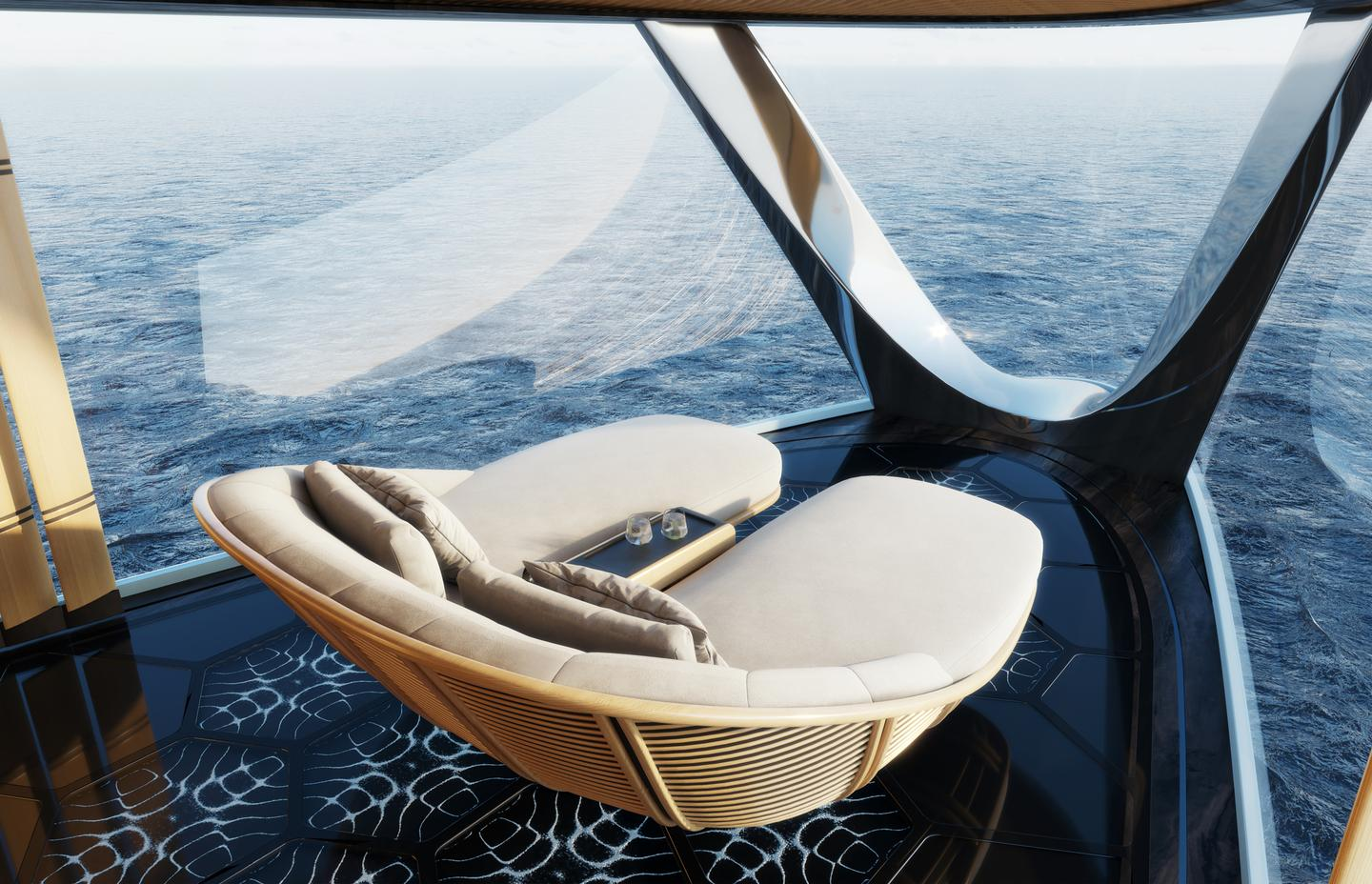"""The """"bow observatory"""" lets you re-live that Titanic moment from a sun lounge"""