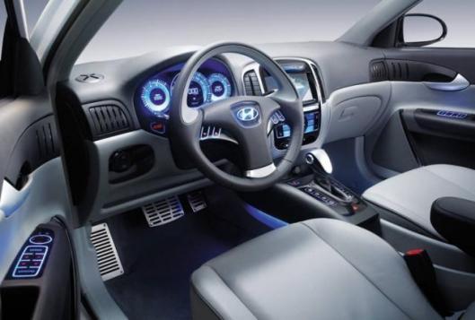 Interior of the Accent SR Turbo