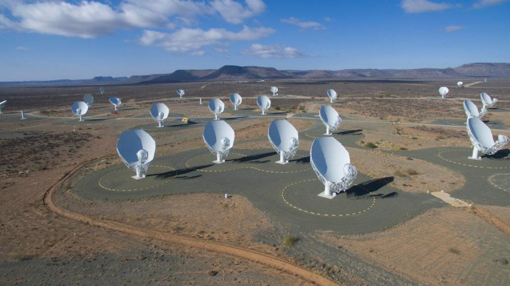 All 64 dishes of the MeerKAT radio telescope array are now up and running in South Africa, and astronomers have celebrated by taking a snapshot of the center of the Milky Way