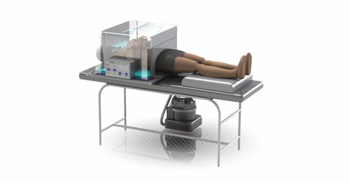 Modern iron lung designed to address ventilator shortage