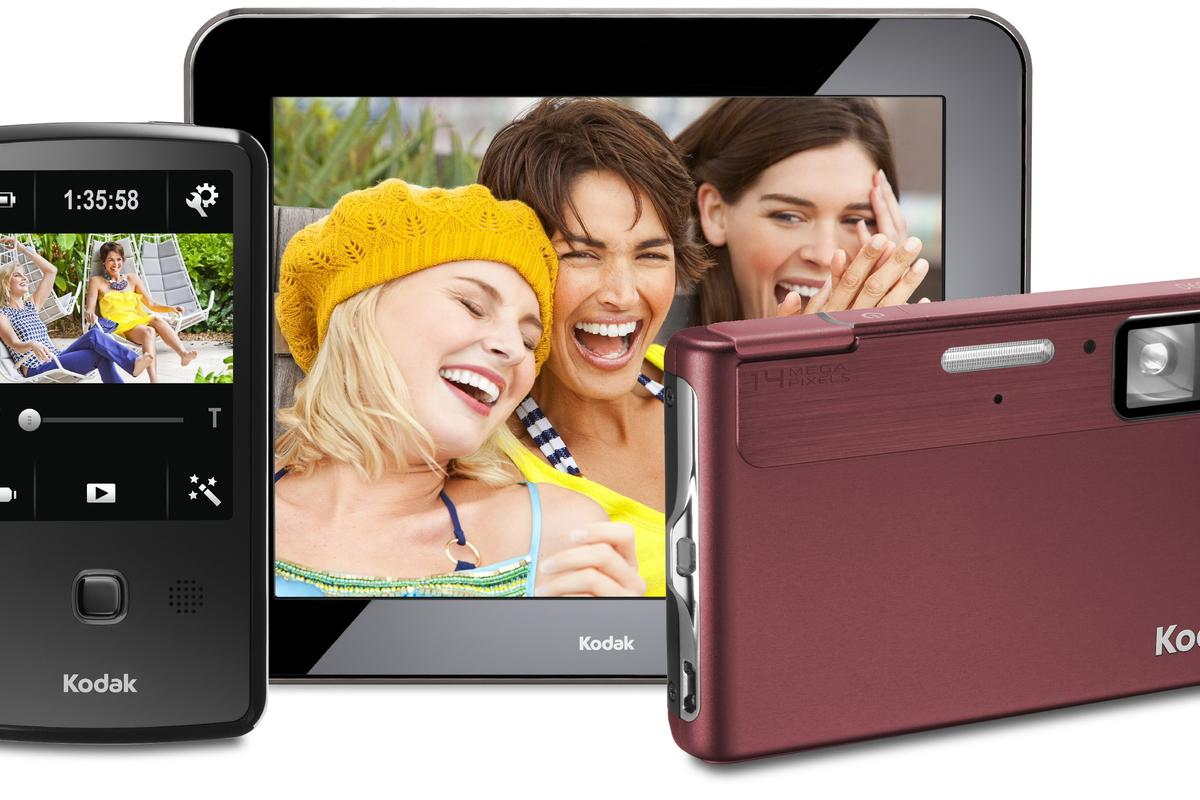 Kodak's new PLAYTOUCH video camera and EASYSHARE M590 digital camera, and the upgraded PULSE digital photo frame