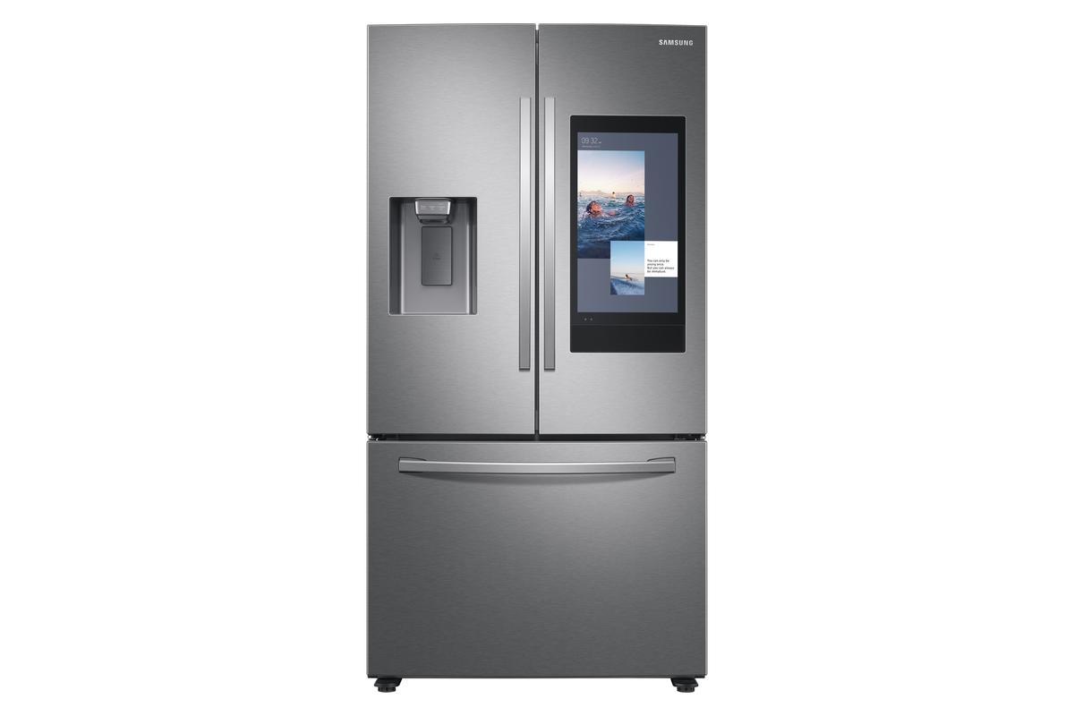 AI cameras keep track of what's inside the Samsung Family Hub fridge, suggesting meal plans and curating shopping lists