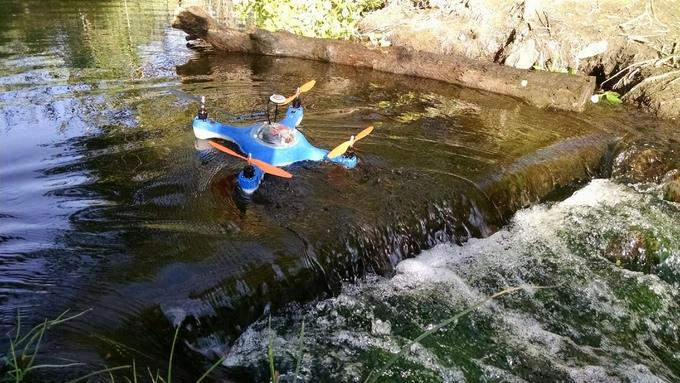 The flying, floating, fish-finding AguaDrone