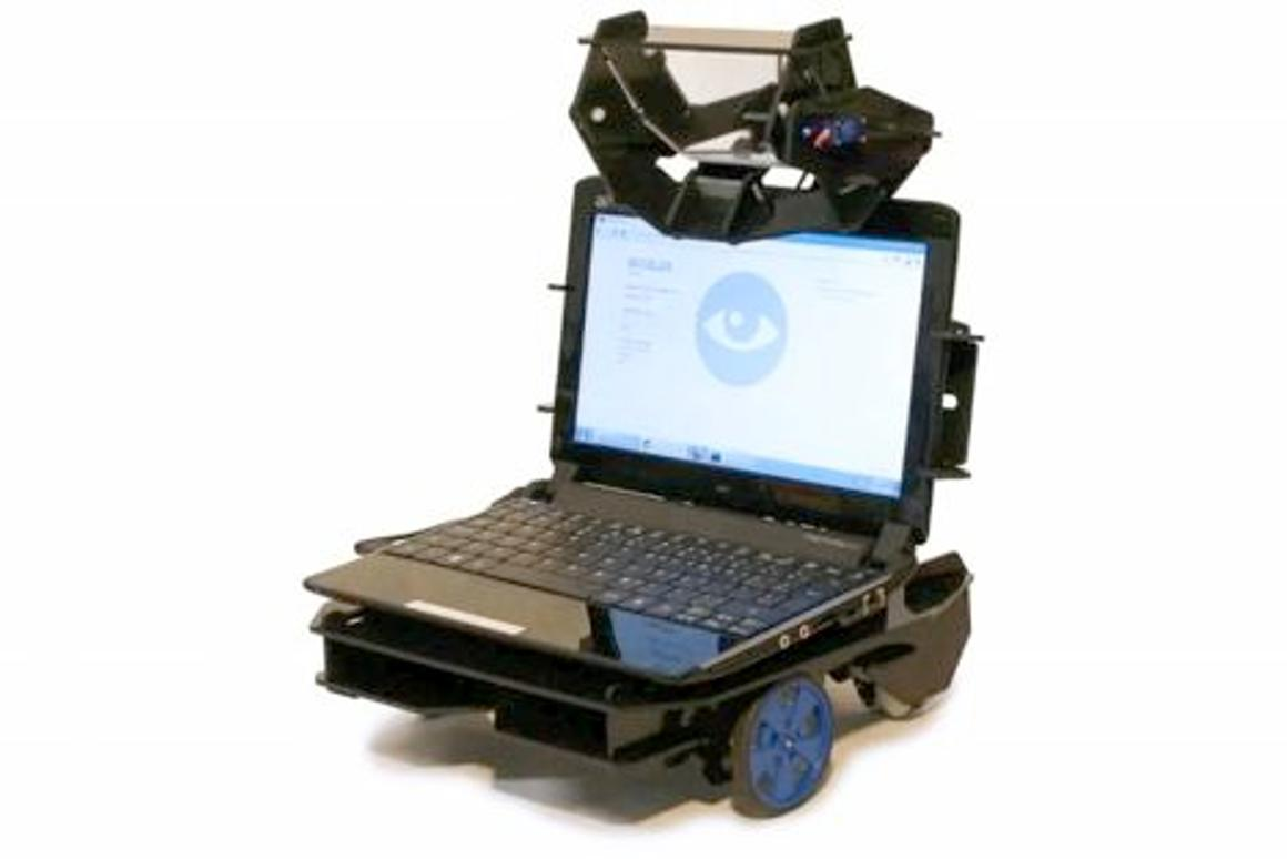 Oculus is an inexpensive telepresence robot that incorporates a user-supplied netbook computer
