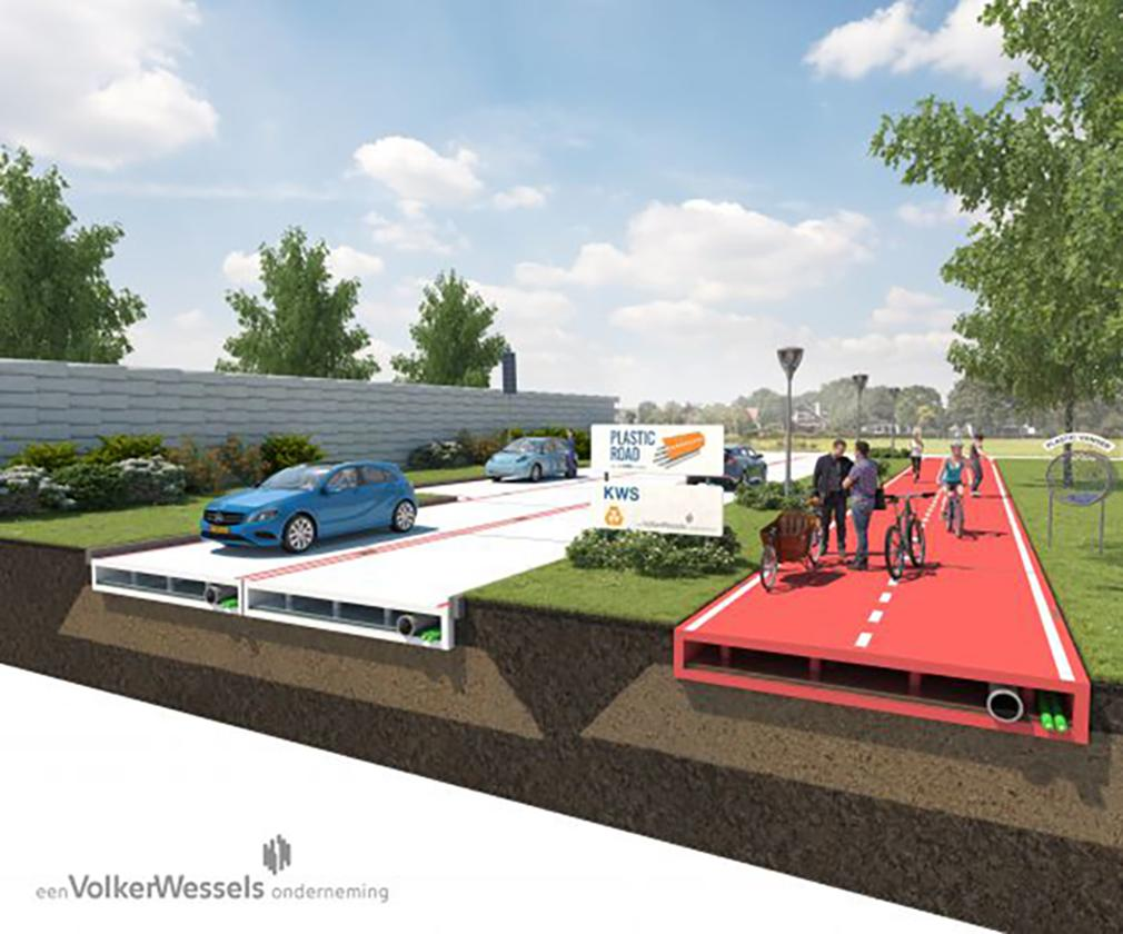 VolkerWessels' PlasticRoad is only a concept at this stage, but the company is looking for partners to help develop a prototype