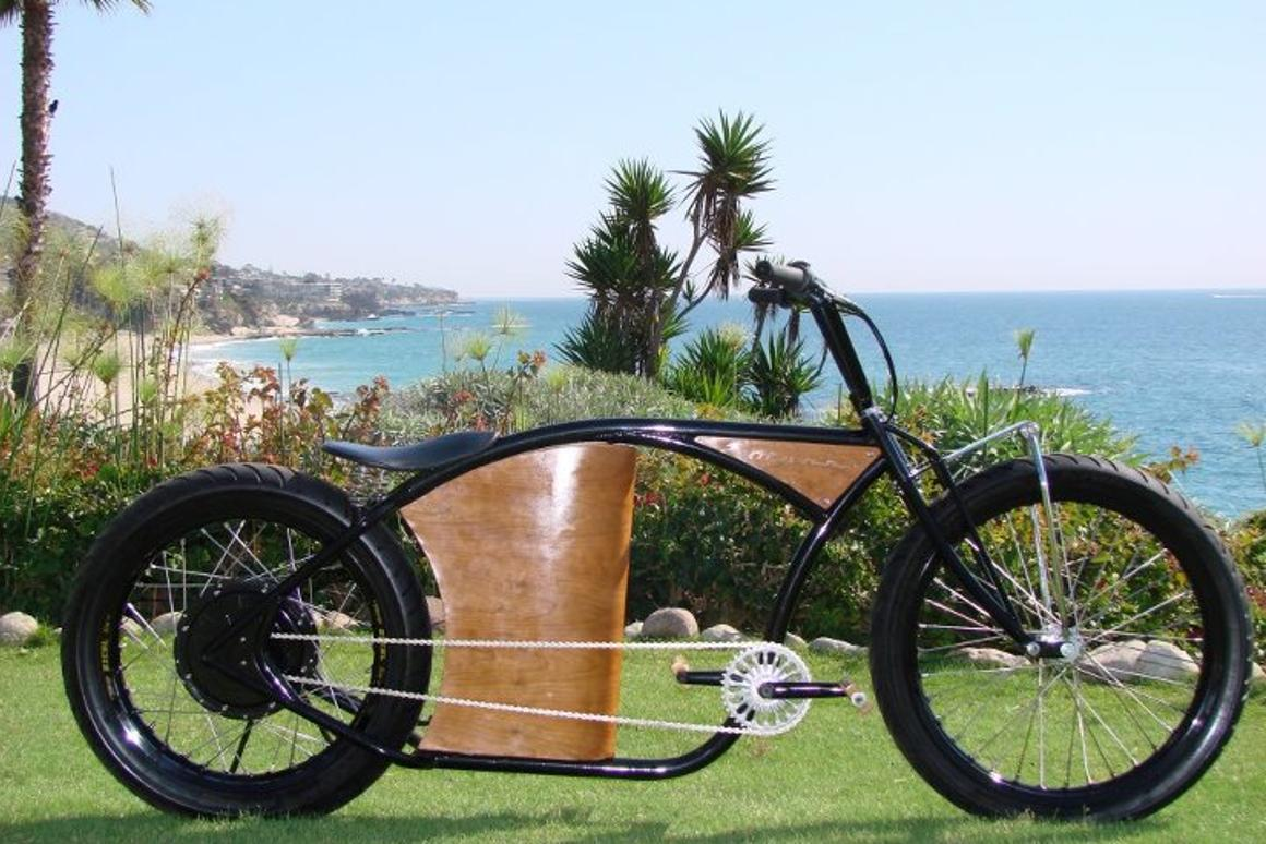 Marrs M-1 electric bicycles are made with an eye towards hot rods and custom motorcycles
