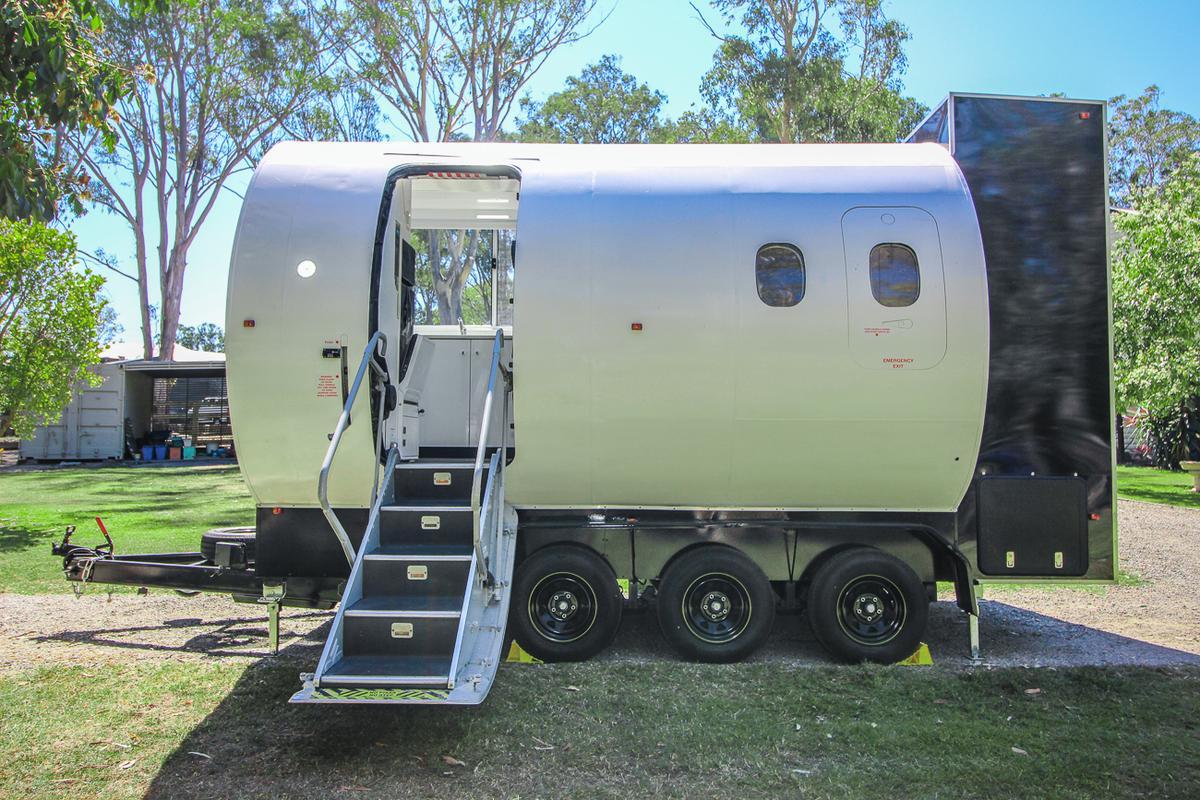 Designer Tiny House Guys calls the Aero Tiny Australia's most unique tiny house – and it has a point