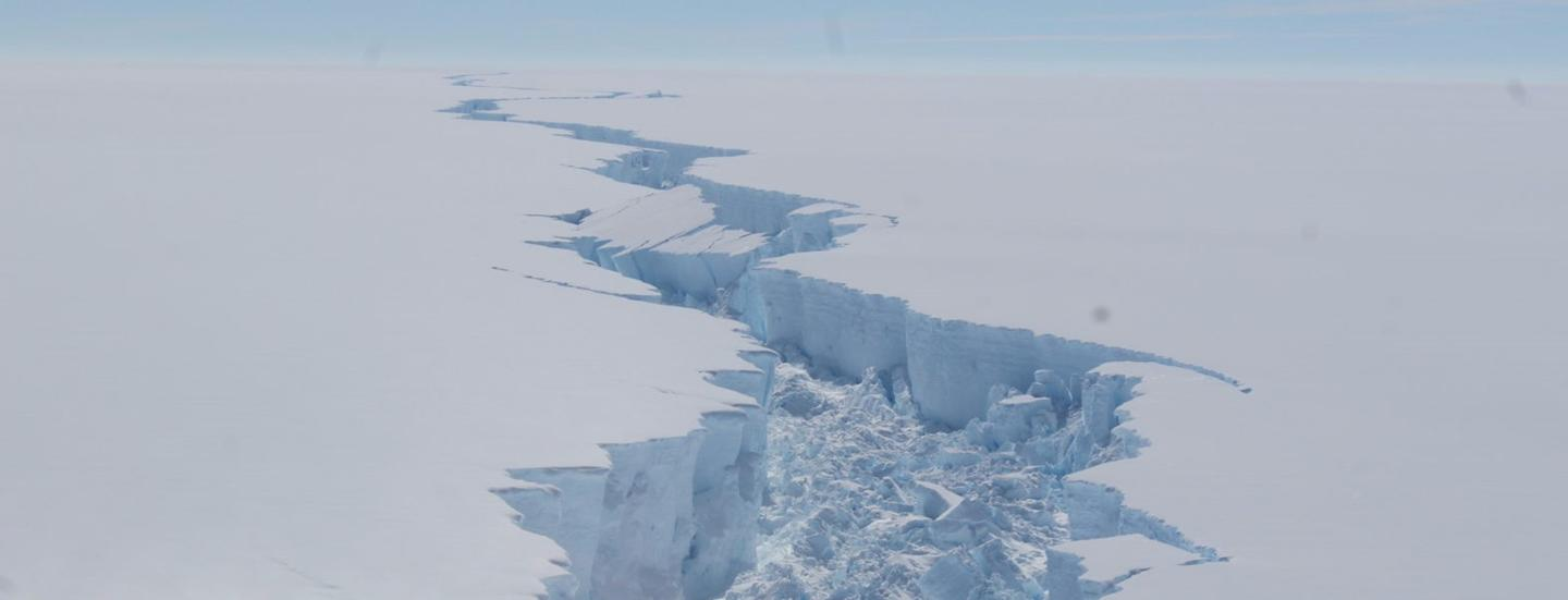 The berg represents 10 percent of the ice shelf