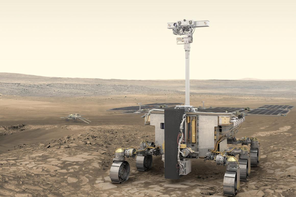 The rover will travel up to 100 meters (328 ft) per Martian day using advanced navigational systems