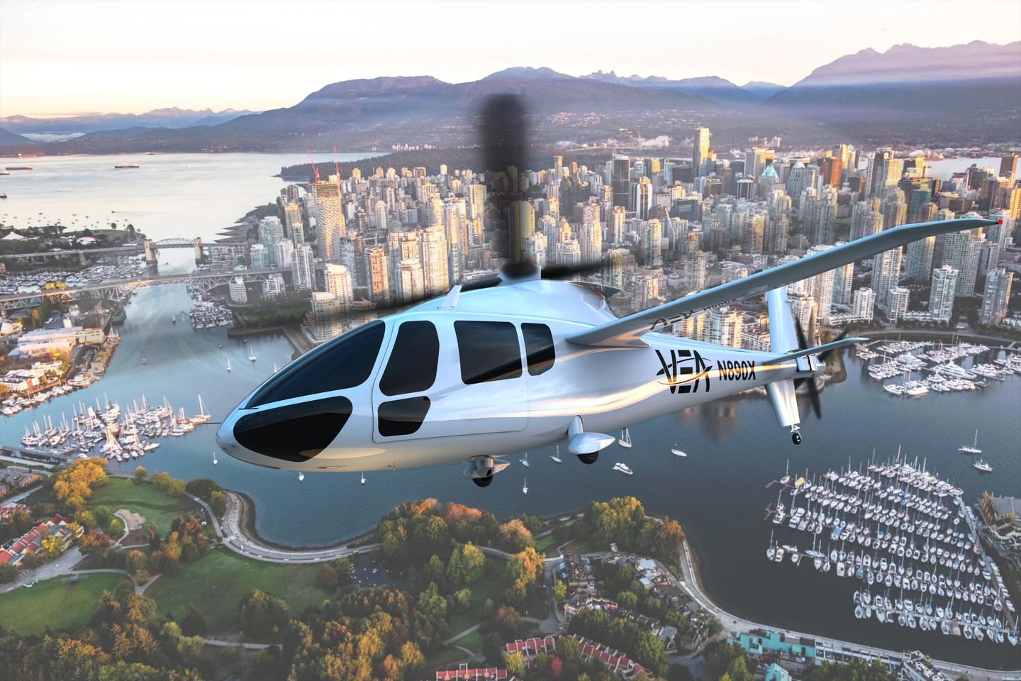 Piasecki's PA-890 slowed-rotor compound helicopter is targeted for certification and commercial production by 2025 – a fuel cell-powered version aims to be the world's first manned hydrogen helicopter