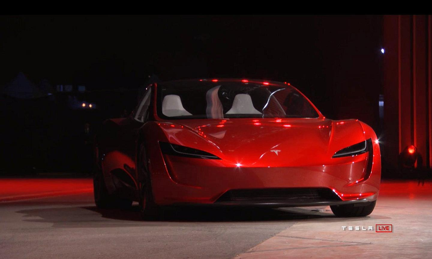 The new Telsa Roadster electric convertible will be a four-seater