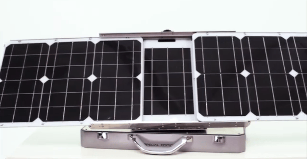The SunSocket uses mono-crystalline solar panels