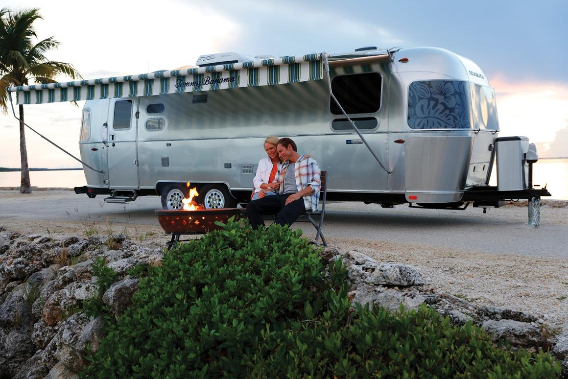 The minute you see the Tommy Bahama Special Edition, the window graphics and awning tell you it's not just the average Airstream trailer
