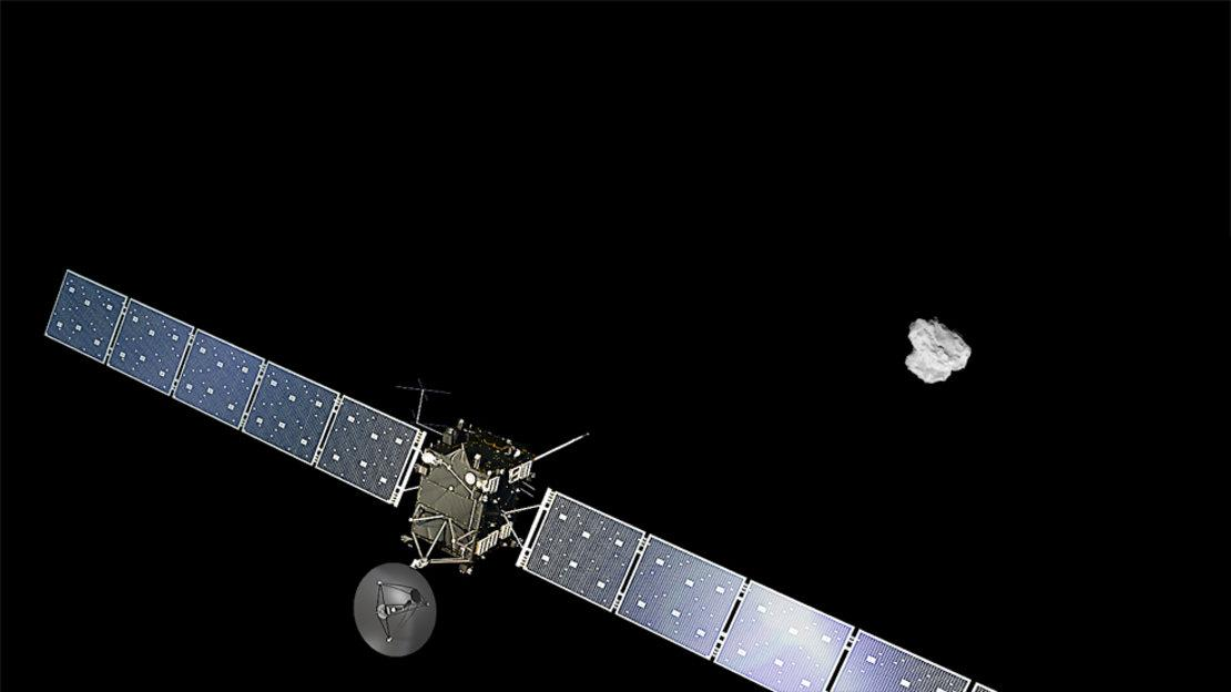 Artist's impression of Rosetta approaching67P