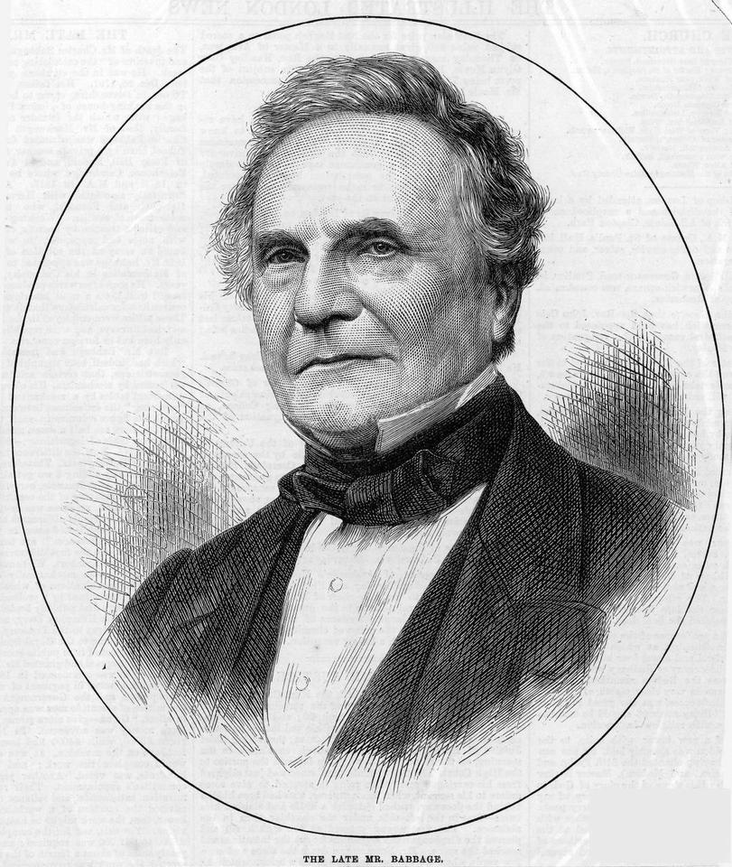 Inventor, mathematician and mechanical engineer Charles Babbage