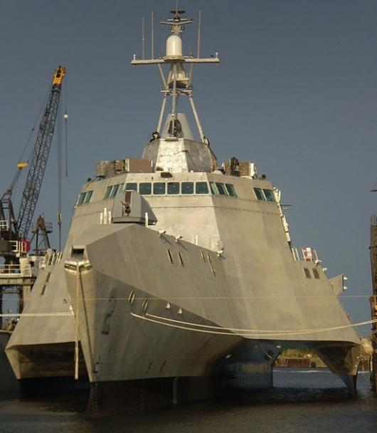The US Navy's new Littoral Combat Ship, the U.S.S. Independence.