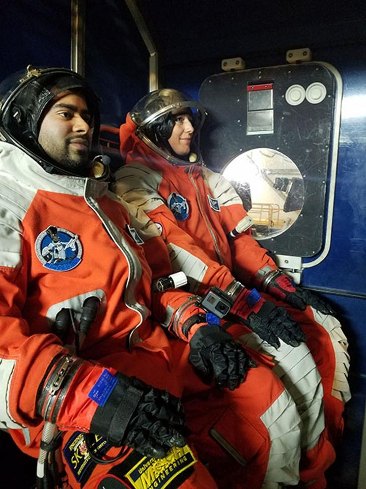 Testing spacesuits and training prospective astronauts in how to use them isn't easy – especially when they're emergency suits