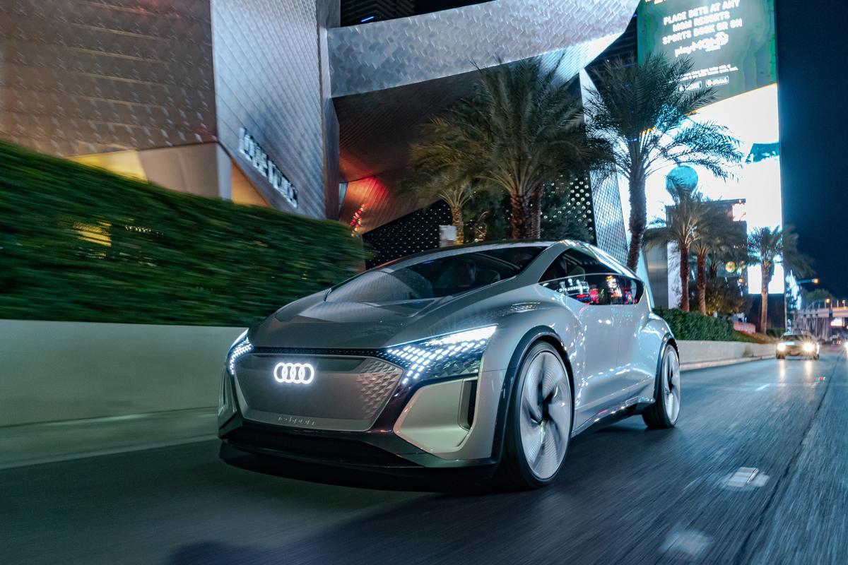 Audi's AI:ME autonomous car concept, just unveiled at CES