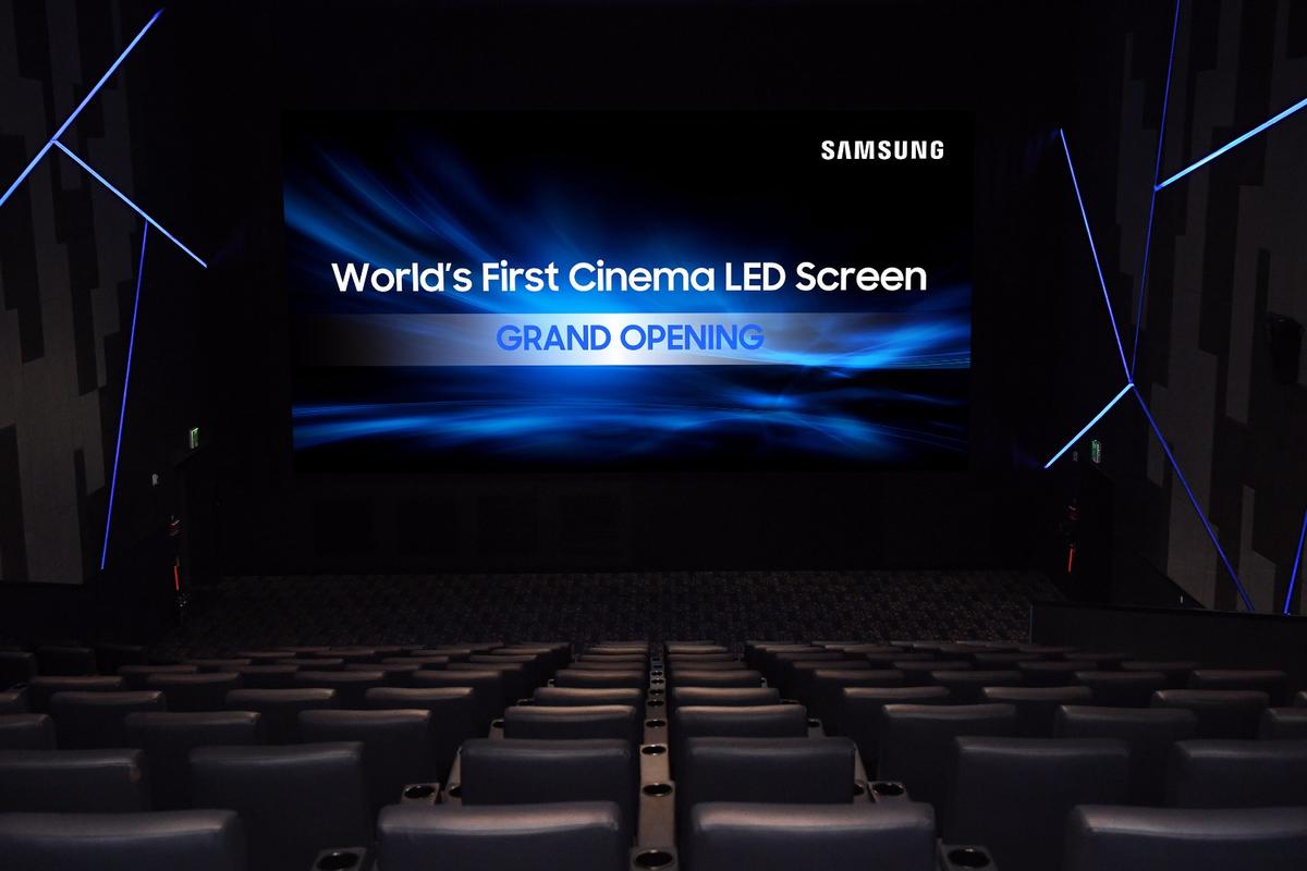 The first commercial installation of Samsung's34 ft Cinema LED Screen