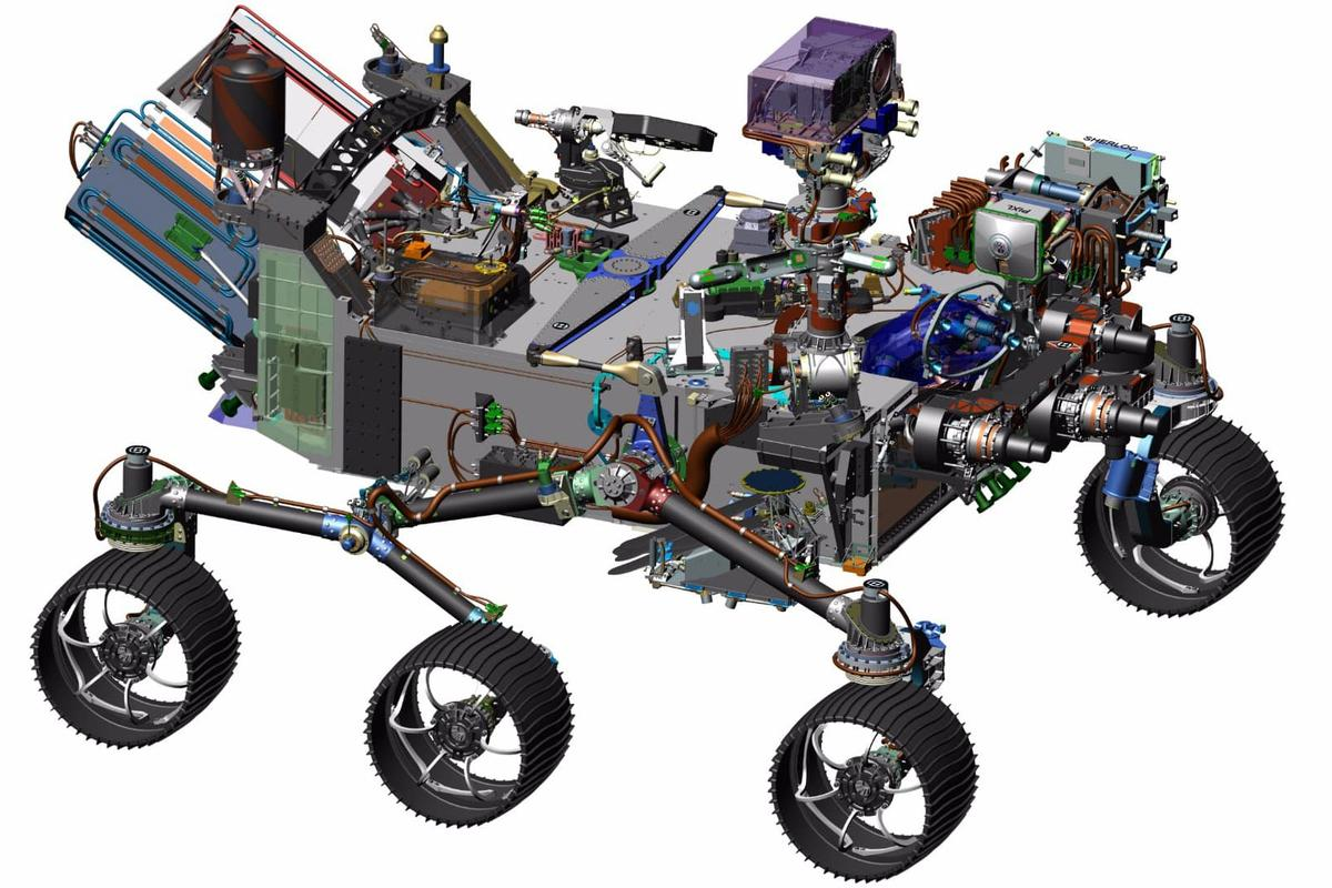 Computer generated image of the Mars 2020 rover