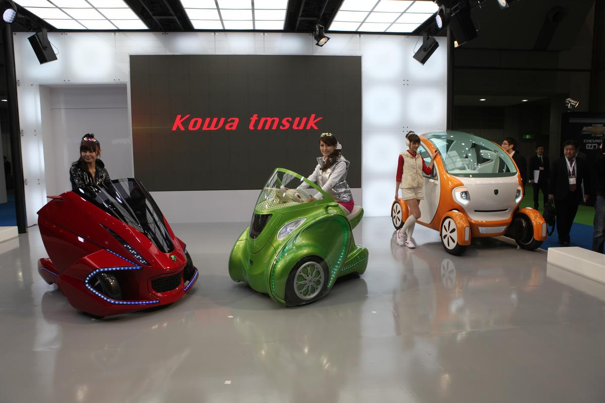 The three-strong range of Kobot concept electric vehicles at the Tokyo Motor Show