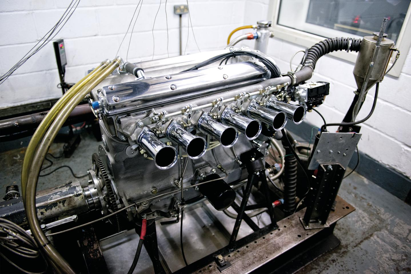 The Lightweight E-Type uses the classic XK engine