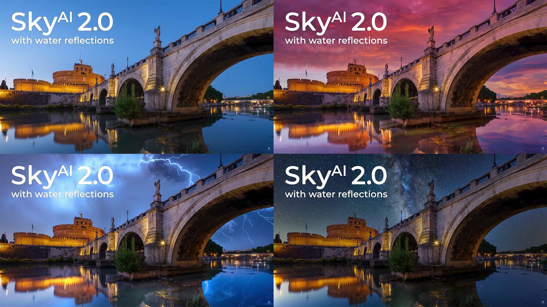 슬라이더 몇 개를 움직이면 모든 이미지에서 시간, 날씨 및 조명 조건을 완전히 변경할 수 있습니다.