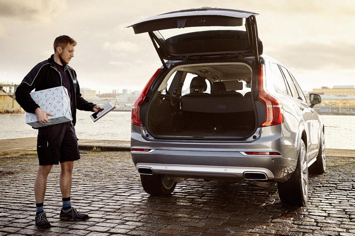 Volvo In-car Delivery allows online shoppers to have deliveries made to their car from a variety of partner providers