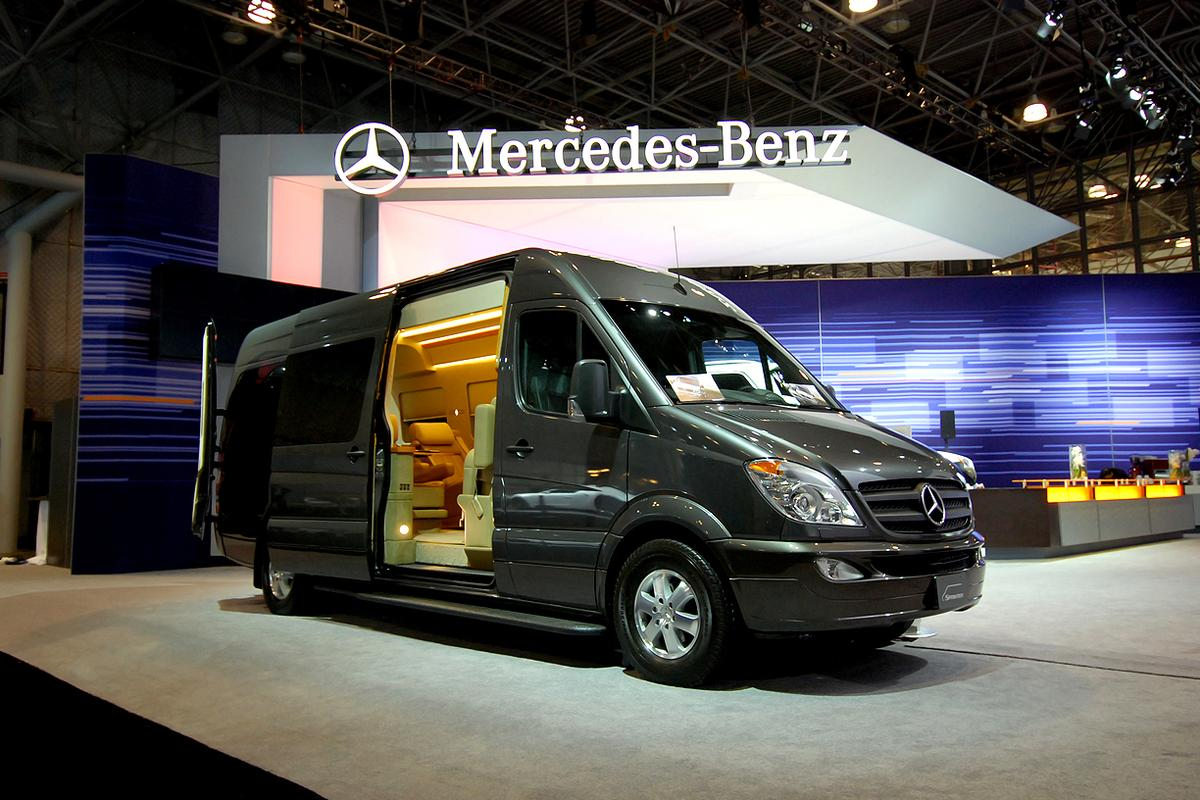 The Sprinter JetVan on display at the 2012 New York Auto Show