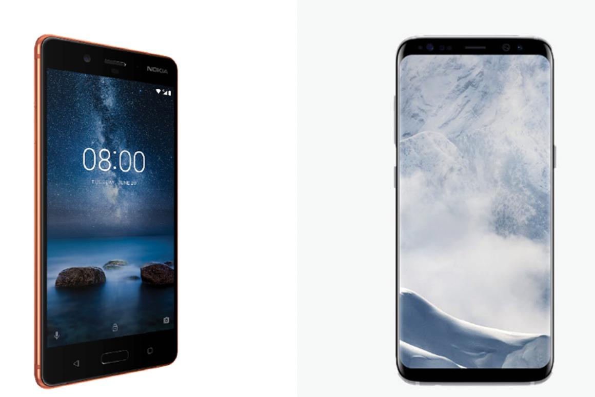 New Atlas compares the specs of the Nokia 8 and Samsung Galaxy S8 and S8+