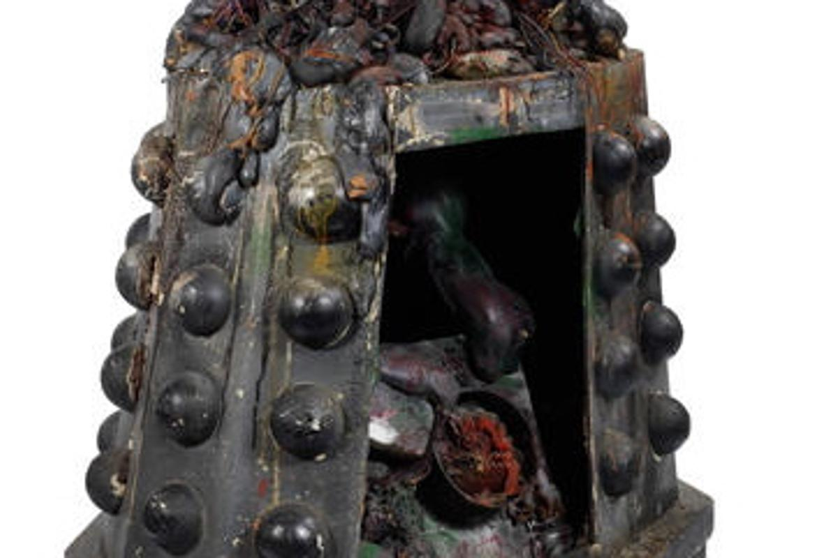 "This ""Destroyed Dalek"" will be one of the items up for auction"