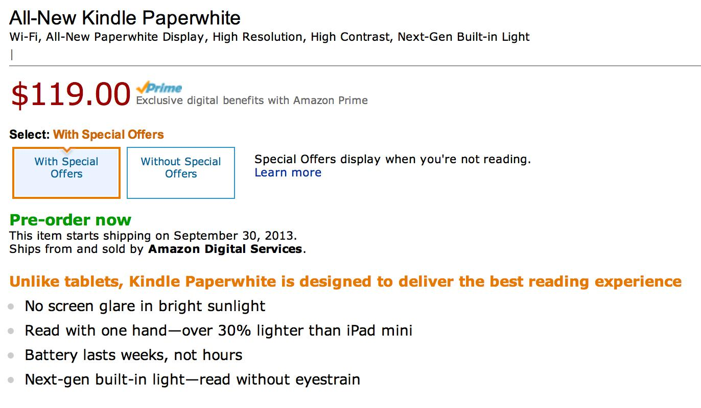 Amazon announces the 2nd-generation Kindle Paperwhite