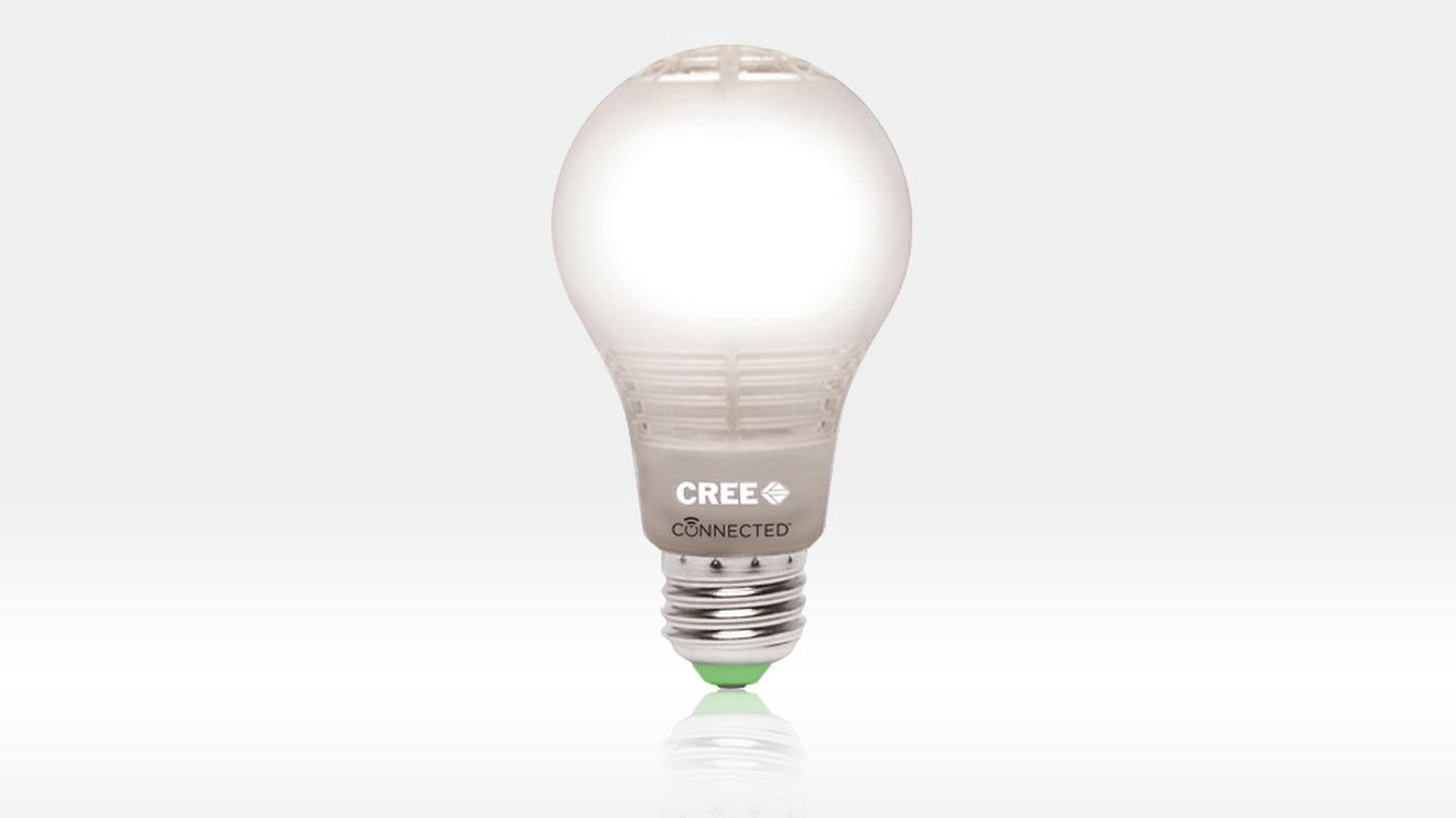 Cree's new LED bulb can be switched on and off using your smartphone, and includes the company's improved cooling solution