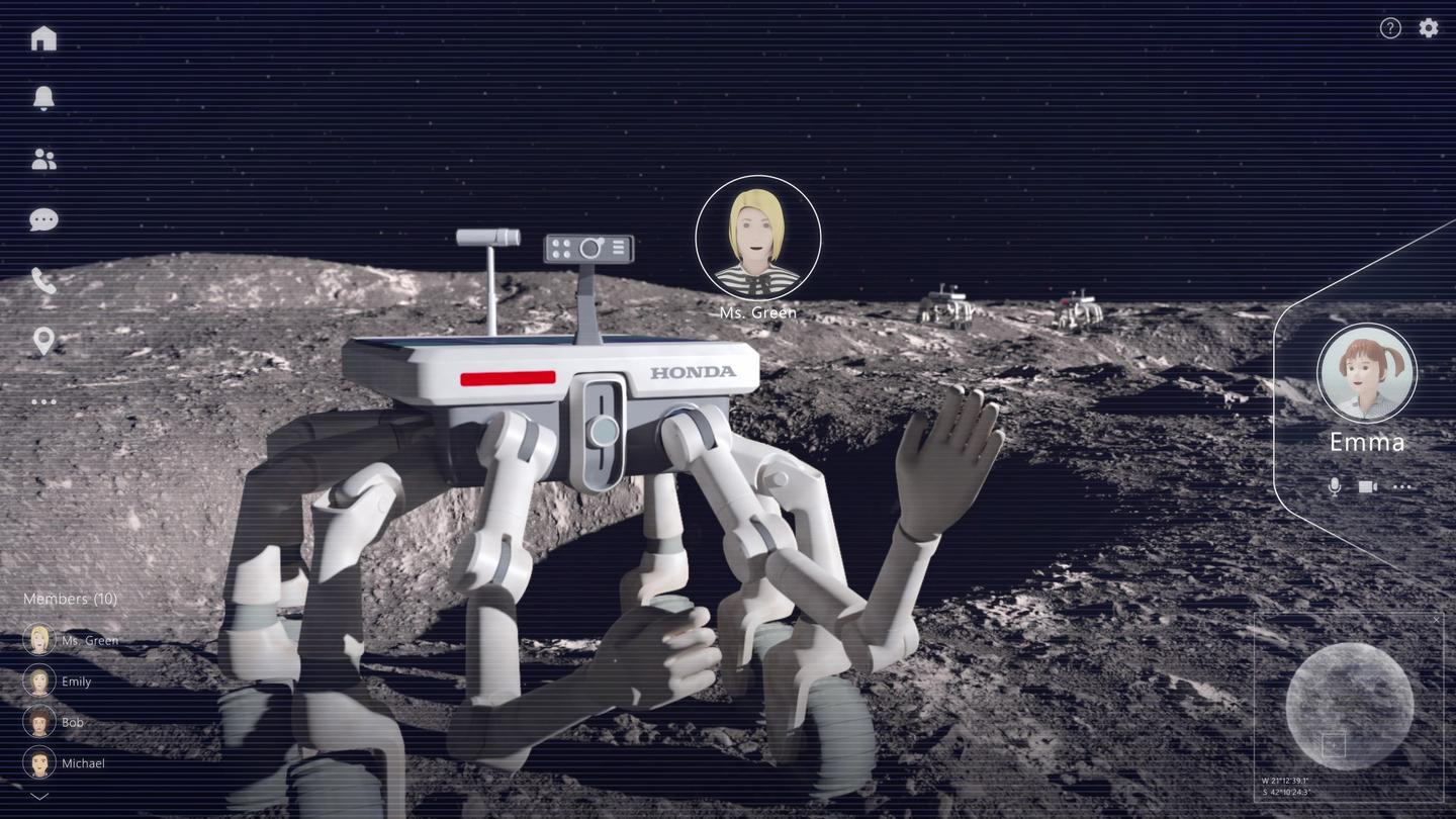 People wouldn't need to leave Earth to travel across the lunar surface using Honda tech