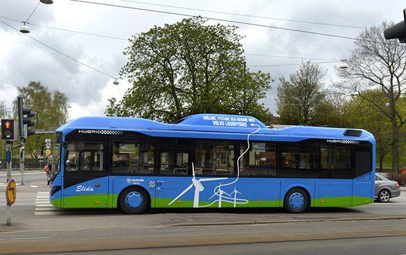 Volvo is planning to test an electric road concept that will charge buses on the fly