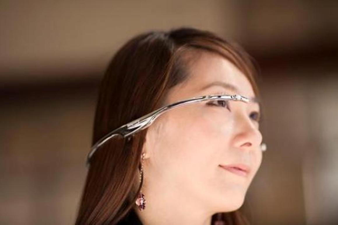 Takahito Iguchi's Telepathy One is a wearable computer headset that will compete with Google Glass