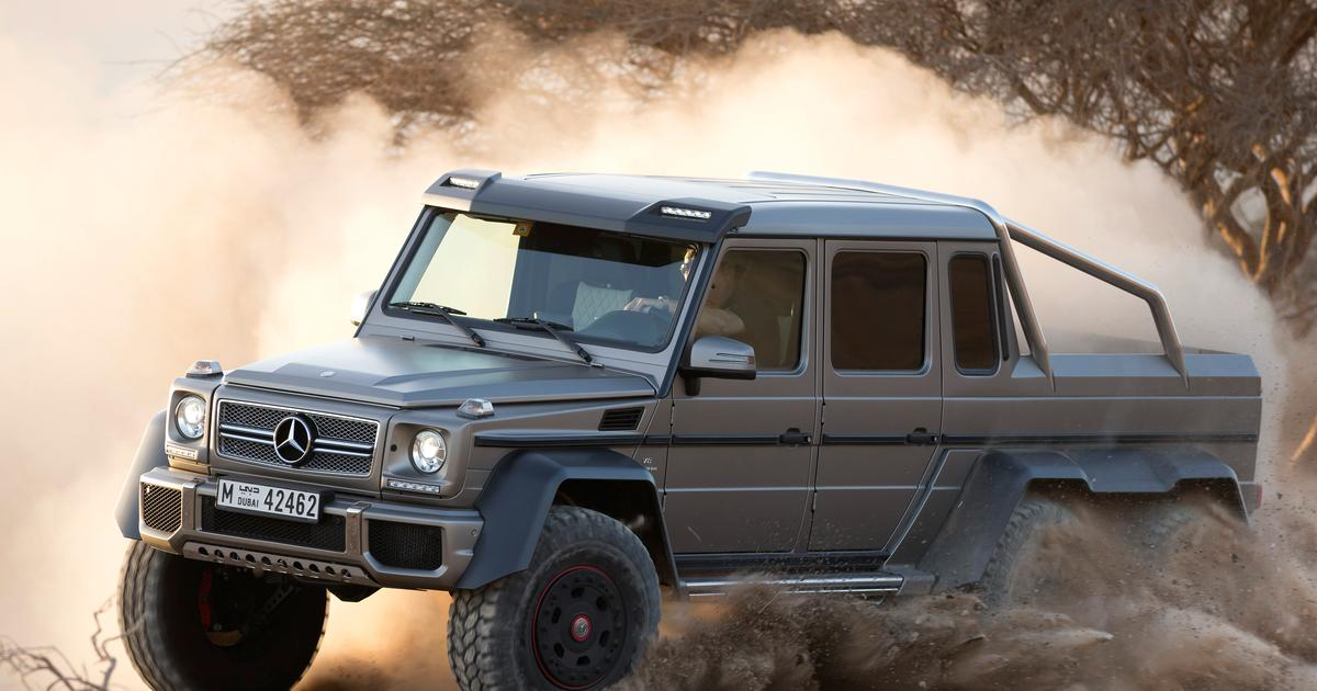 Mercedes Benz 544 hp G 63 AMG 6x6 off-roader close to production
