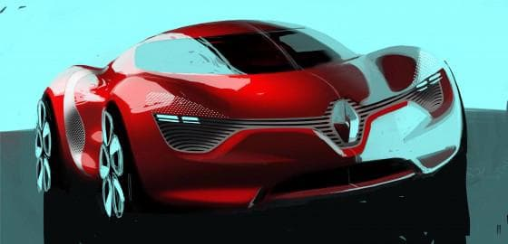 The Renault DeZir concept electric vehicle