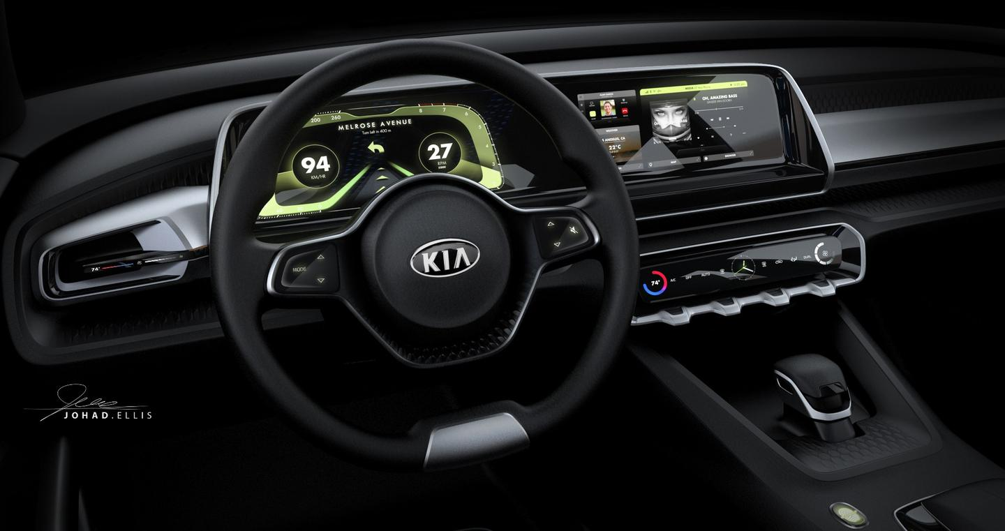 The Telluride's electronic dash