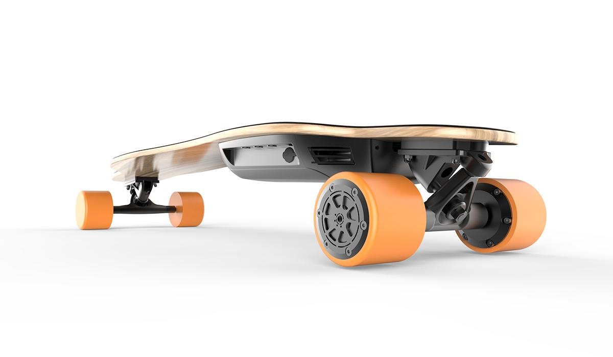 The Pomelo Pro electric longboard has a 23.6 mile range and a top speed of 26 mph
