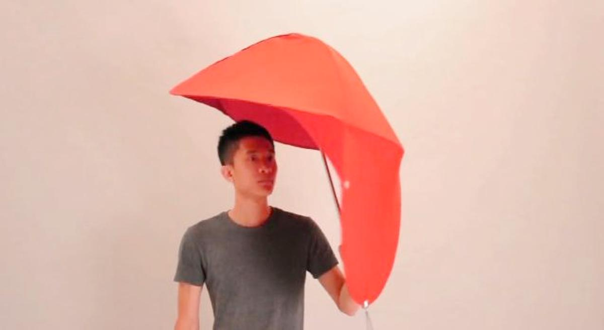 Rain Shield is a concept for a new type of umbrella, created to remedy several of the problems associated with the traditional design