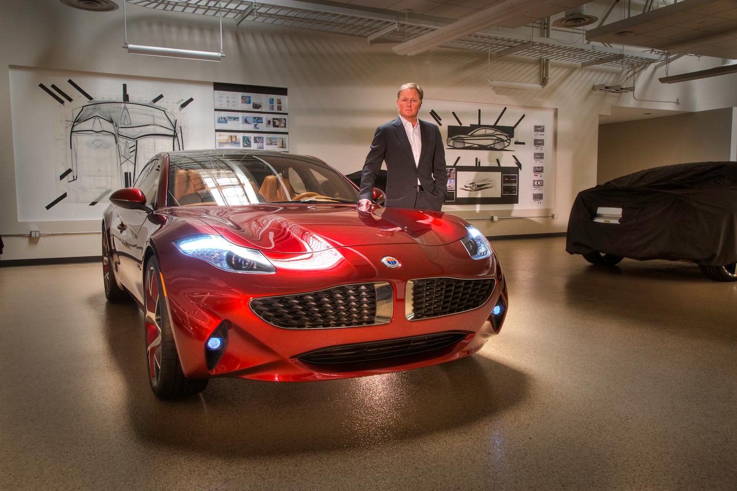 Henrik Fisker with the new Atlantic Design Prototype (Photo: Fisker Automotive)