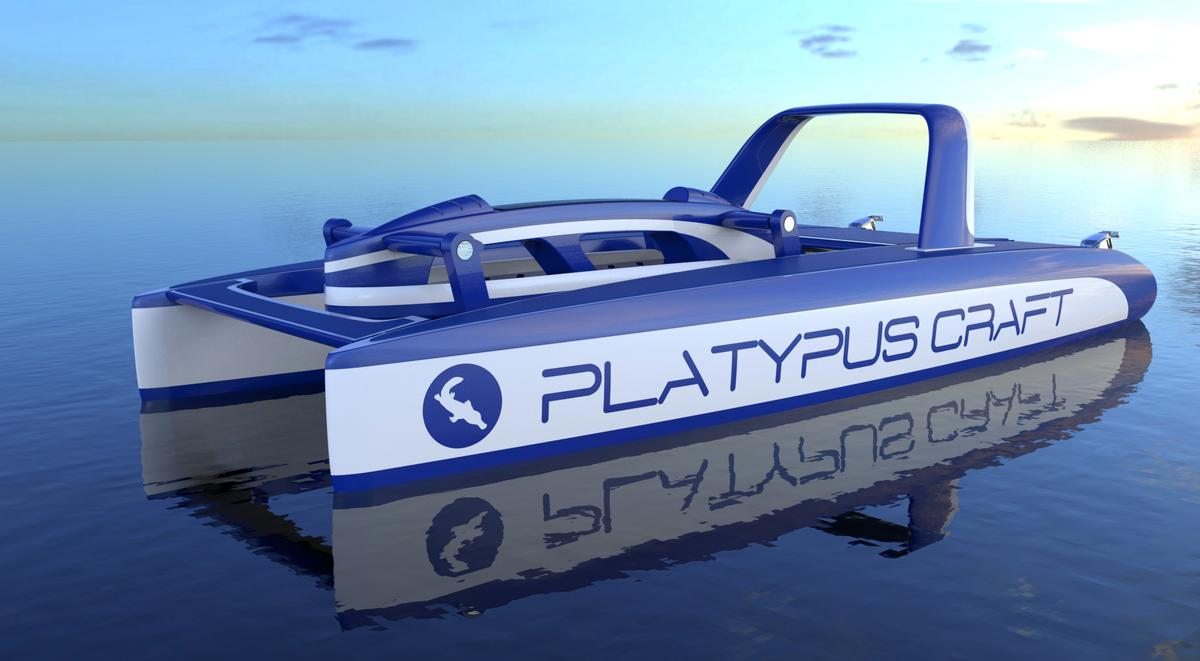 The final design of the Platypus underwater exploration vehicle