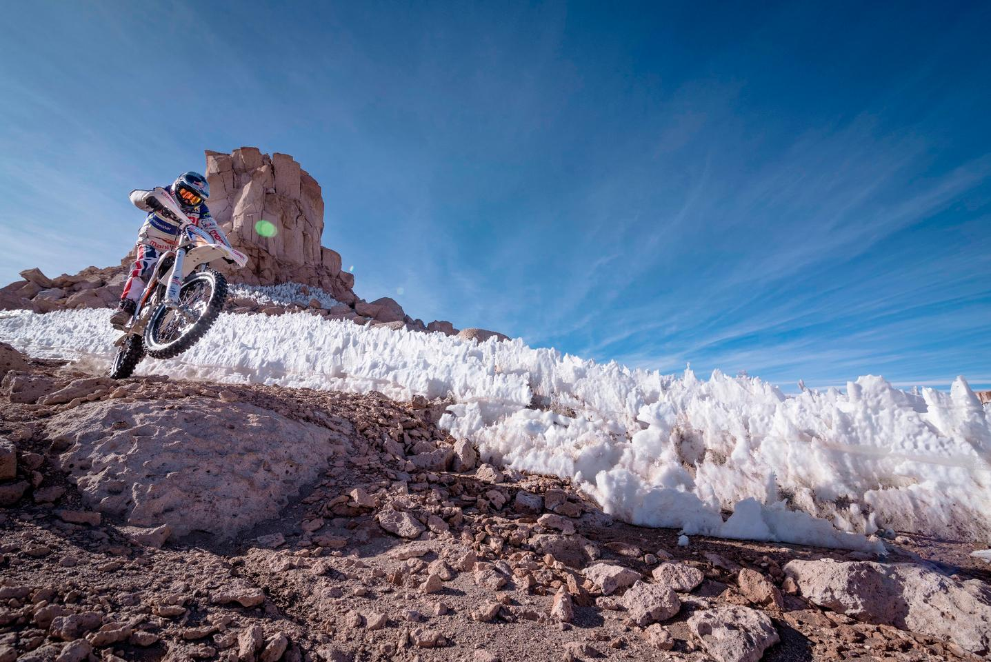 Francisco Lopez and his KTM Freeride E-XC had to face challenging terrain, high altitude, and low temperatures