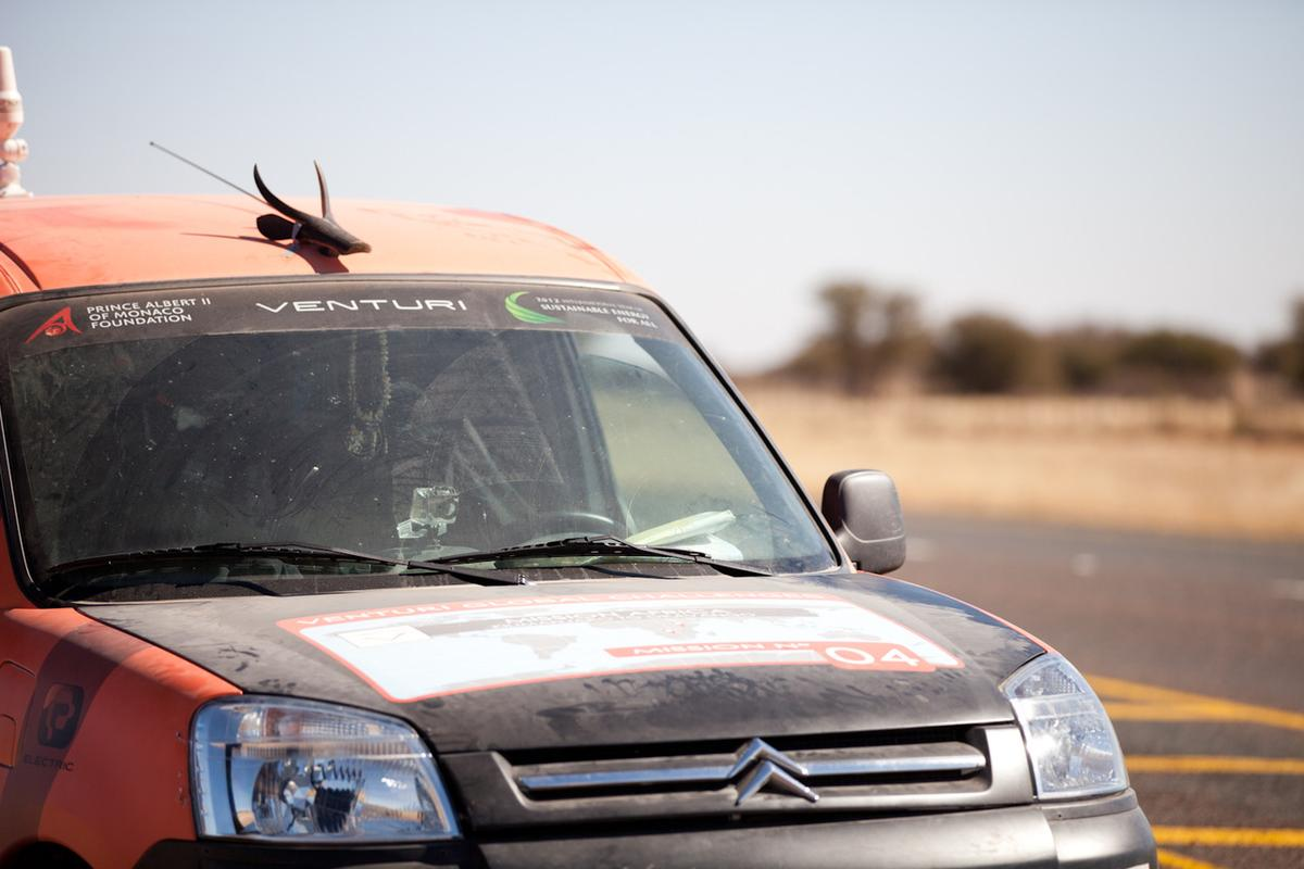Frenchman Xavier Chevrin has just completed a 3,600 mile journey through Africa in an electric Berlingo